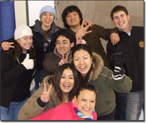WVC international students at the ice rink